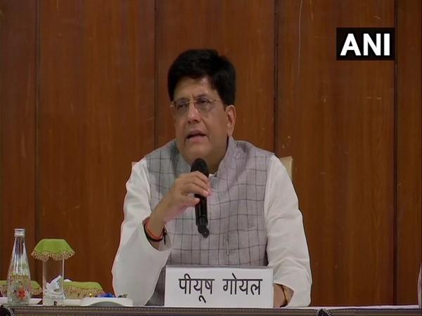 Union Minister Piyush Goyal addressing a press conference on Wednesday.