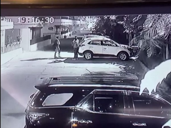 A grab from the CCTV footage of the incident.