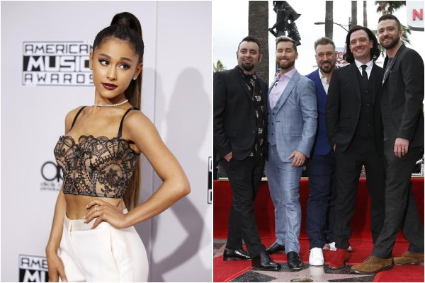 Ariana Grande with NSYNC band
