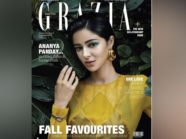 Ananya Panday as the cover girl for Grazia magazine (Image courtesy: Instagram)
