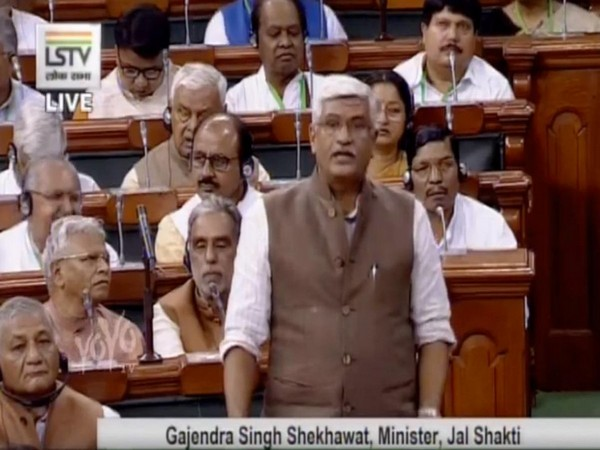GS Shekhawat, Union Min of Jal Shakti speaking in the parliament on Thursday