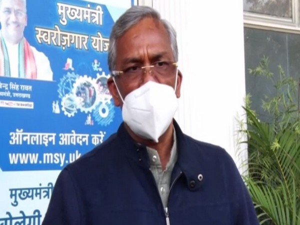Uttarakhand Chief Minister Trivendra Singh Rawat talking to media on Feb 8