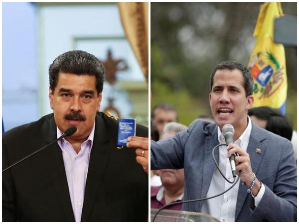 Venezuelan President Nicolas Maduro (L) and National Assembly leader Juan Guaido (R) (File photos)