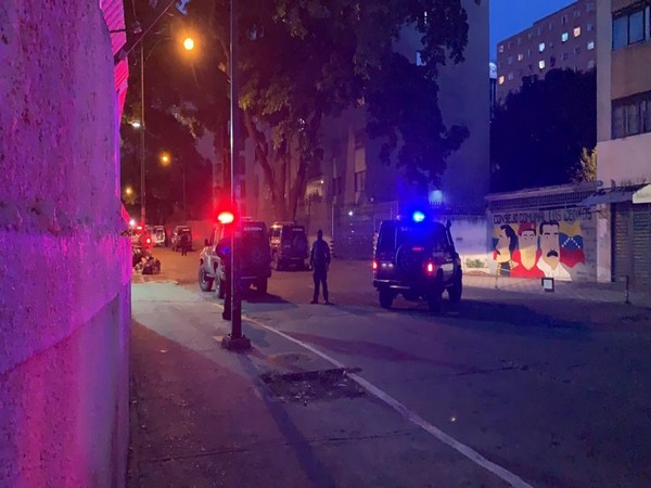 A picture of the incident shared by National Assembly President Juan Guaido on Twitter on May 8 (local time)