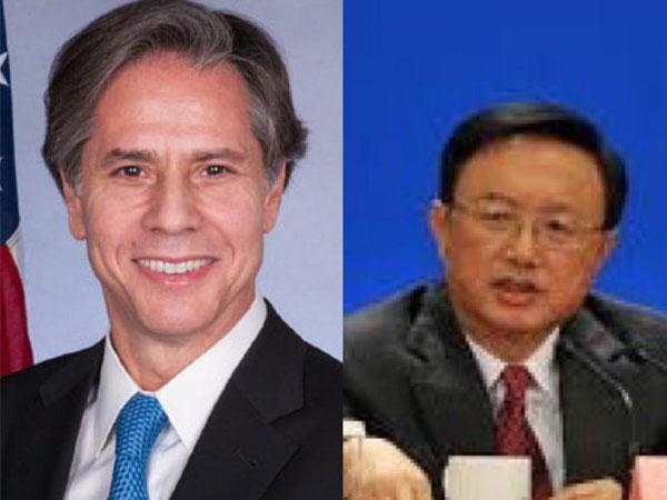 United States State Secretary Antony Blinken and his Chinese counterpart Yang Jiechi