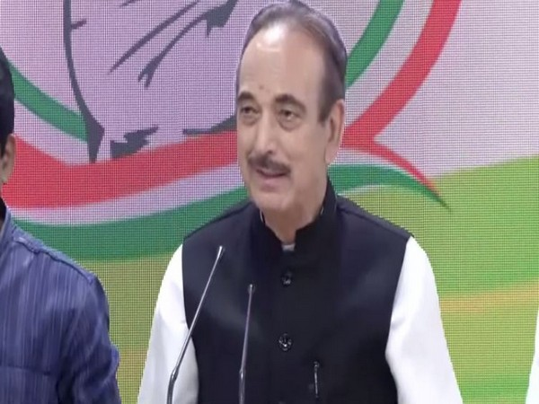 Congress leader Gulam Nabi Azad adressing a press conference in New Delhi on Wednesday.