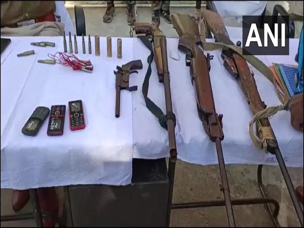 Seized arms and ammunition. (Photo/ ANI)