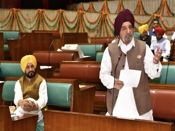 Punjab Minister Tript Rajinder Singh Bajwa at a special session of the Vidhan Sabha