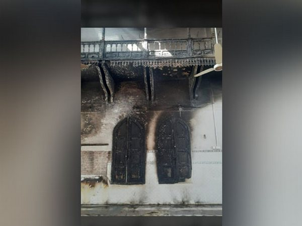 Minor damage caused to Gurdwara Panja Sahib after a fire broke out on Wednesday.