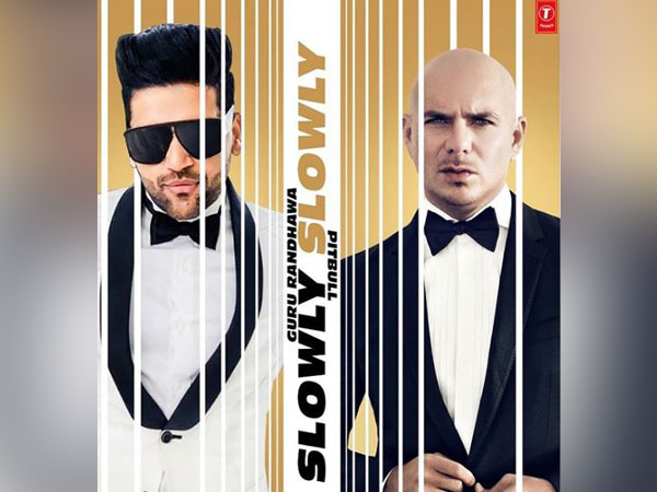 Guru Randhawa and Pitbull on the cover of their song 'Slowly Slowly'