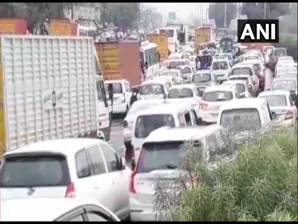 Visuals from Gurugram on Thursday. Photo/ANI