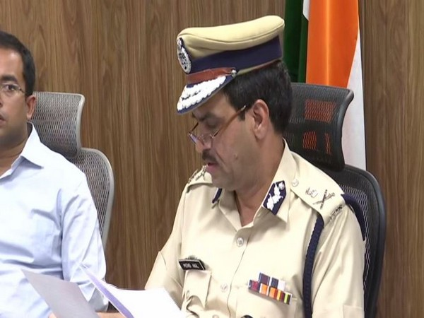Gurugram Commissioner of Police Muhammad Akil while addressing a press conference on Tuesday. Photo/ANI