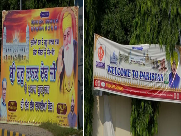 Posters, banners welcoming pilgrims traveling to Kartarpur spotted at Wagah
