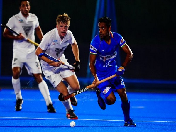 New Zealand defeated India by 2-1 in the Olympic Test Event. (Photo/Hockey India Twitter)