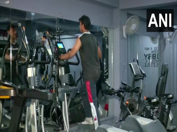 Fitness enthusiasts have welcomed the reopening gyms in Delhi. (Photo/ANI)