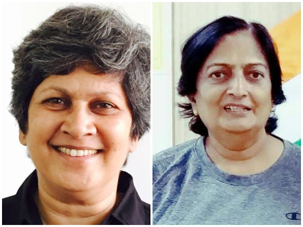 Former India women captains Shubhangi Kulkarni (left) and Shantha Rangaswamy (right)