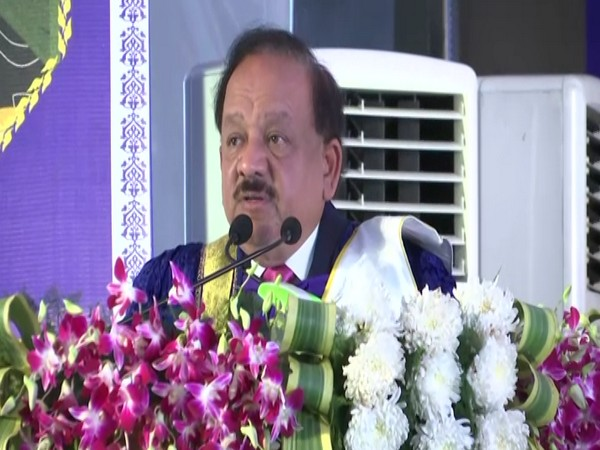 Union Minister for Health and Family Welfare Harsh Vardhan at AIIMS Rishikesh on Saturday. Photo/ANI