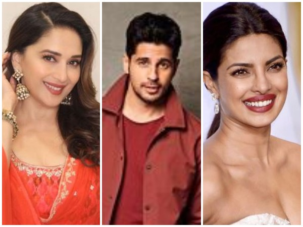 Madhuri Dixit, Sidharth Malhotra and Priyanka Chopra (Image courtesy: Instagram)