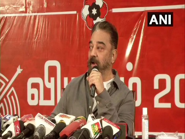 Kamal Haasan briefs the media in Madurai on Monday. (Photo/ANI)