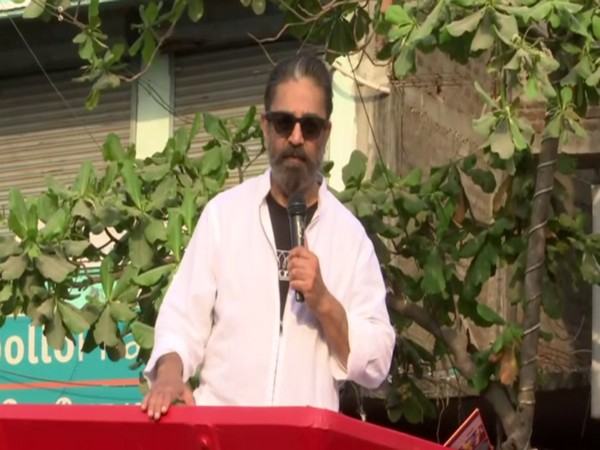 MNM president Kamal Haasan canvassed for his party candidates in Puducherry on Monday.