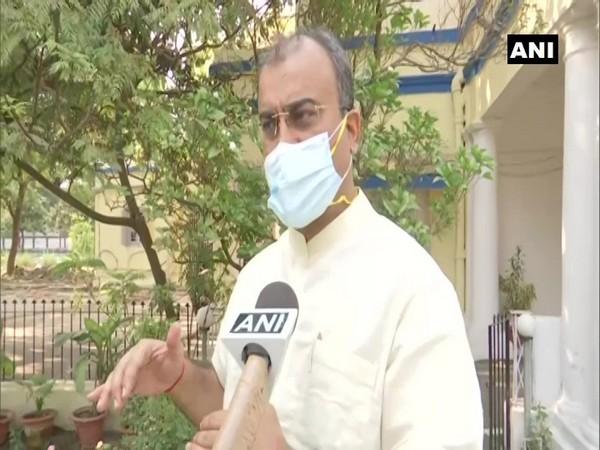 Bihar Health Minister Mangal Pandey speaking to ANI on Monday.