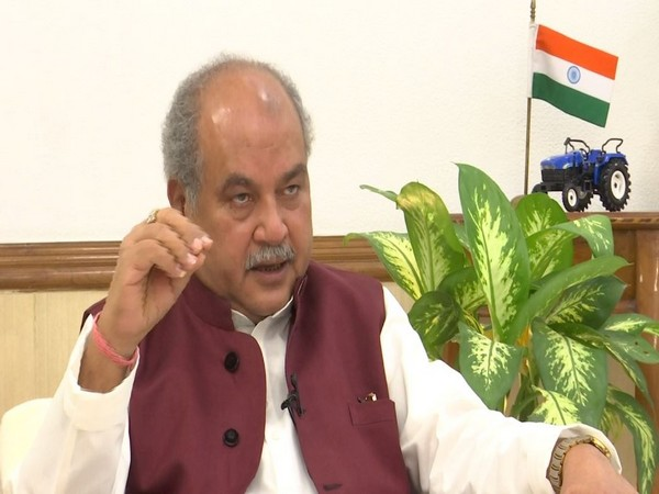 Union Agriculture Minister Narendra Singh Tomar during an interview with ANI in New Delhi. (Photo/ANI)
