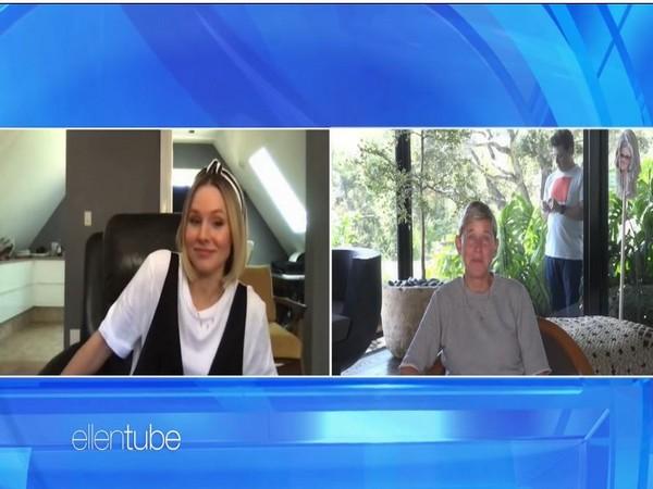Kristen Bell and Ellen DeGeneres (Image courtesy: Youtube)