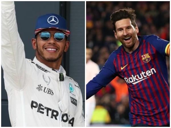 Lewis Hamilton and Lionel Messi