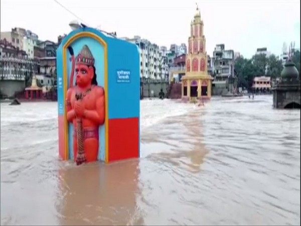Godavari river in Nashik has flown above the danger mark [Photo/ANI]