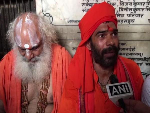 Mahant Madhuban Das Sidh speaking to ANI in Ayodhya on Monday. (Photo/ANI)