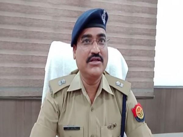 Assistant Superintendent of Police, Sarvesh Mishra speaking to ANI in Hapur, Uttar Pradesh on Sunday. Photo/ANI