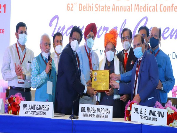 Delhi Medical Association honours Harsh Vardhan for his outstanding service and exemplary work during COVID-19 pandemic.