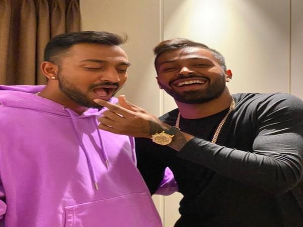Indian cricketers Krunal Pandya and Hardik Pandya (Image: Hardik Pandya's twitter )