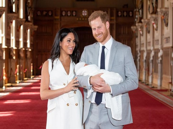 Meghan Markle and Prince Harry with their new born son Archie Harrison Mountbatten-Windsor