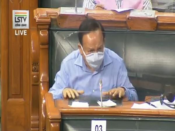 Union Health Minister Dr Harsh Vardhan speaking in Lok Sabha in New Delhi on Sunday.
