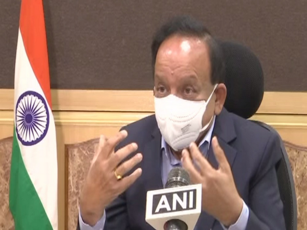 Union Minister Harsh Vardhan in conversation with ANI. (Photo/ANI)