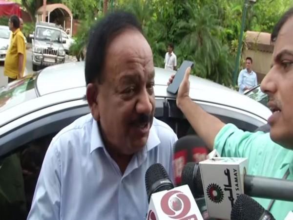 Union Health Minister Harsh Vardhan speaking to media in New Delhi on Thursday. Photo/ANI