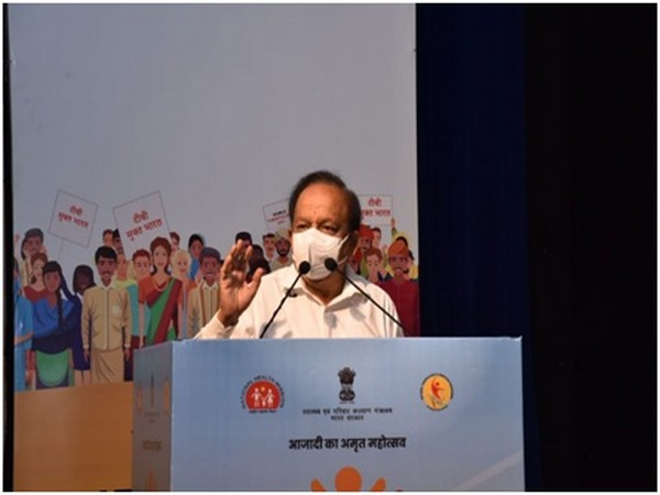 Union Minister Harsh Vardhan at the event on Wednesday.