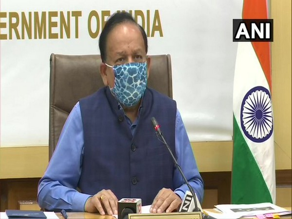 Union Health Minister Dr Harsh Vardhan speaking at the virtual consultation session on Saturday.
