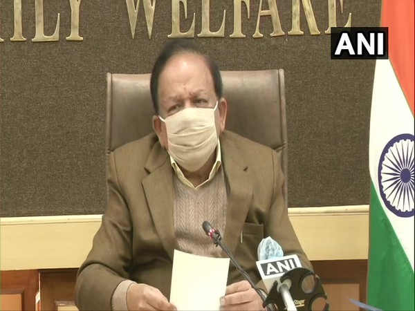 Union Health Minister Dr Harsh Vardhan during the GoM meeting on Thursday. (Photo/ANI)