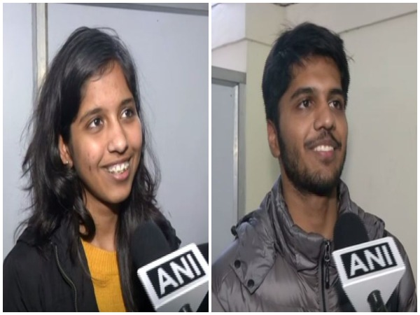Delhi Chief Minister Arvind Kejriwal's daughter Harshita (left) and son Pulkit Kejriwal speaking to ANI in New Delhi on Tuesday.