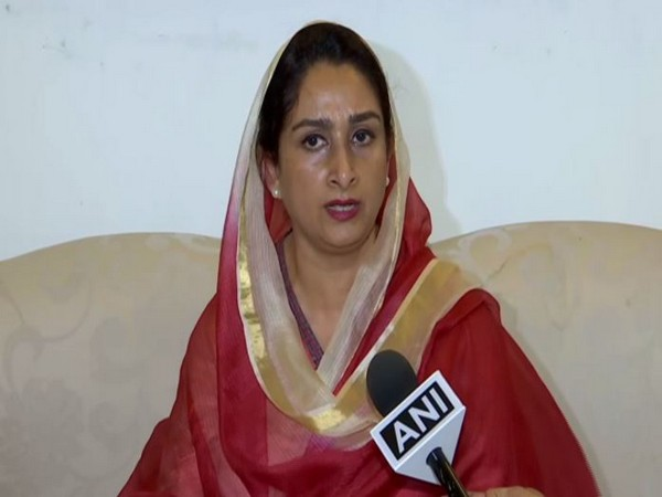 Union Cabinet Minister for Food Processing Industries Harsimrat Kaur Badal (File photo/ANI)