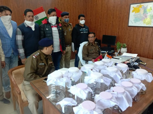 Two people arrested for illegal possession of pistols and ammunition in Sirsa district of Haryana on Saturday. (Photo/ANI)