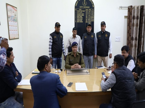 Haryana Police informing about the arrested criminal on Friday. Photos/ANI