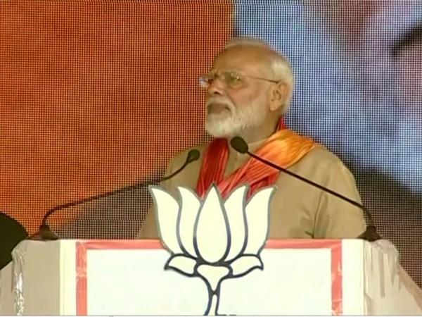 Prime Minister Narendra Modi addressing an election rally in Kurukshetra, Haryana on Tuesday.
