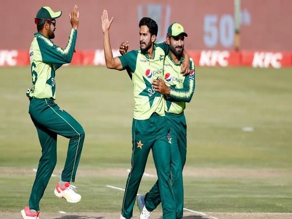 Pakistan bowler Hasan Ali in action (Photo/ ICC Twitter)