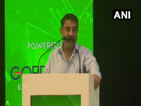 Kamal Haasan speaking at 'Yescon 2020' in Madurai, Tamil Nadu on Saturday.