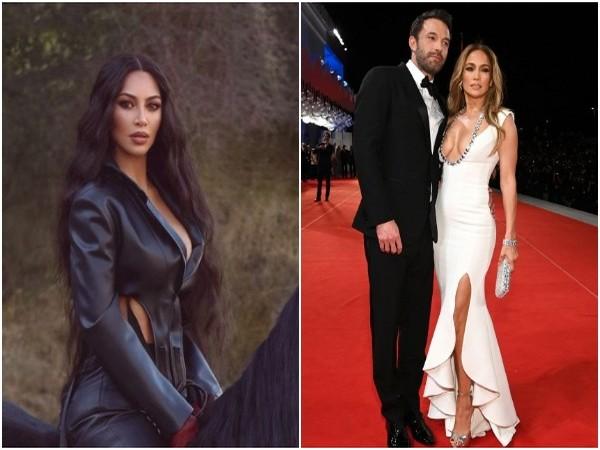 Kim Kardashian, Ben Affleck and Jennifer Lopez (L to R) (Image source: Instagram)