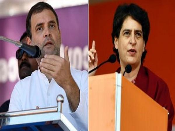 Congress leaders Rahul Gandhi (left) and Priyanka Gandhi Vadra (right) (Photo/ANI)