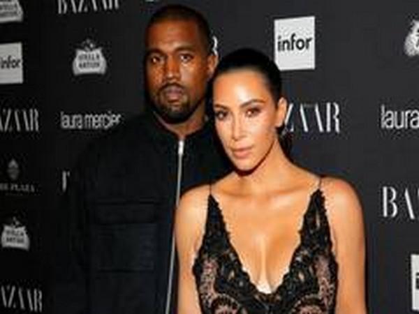 Celebrity couple Kim Kardashian, Kanye West